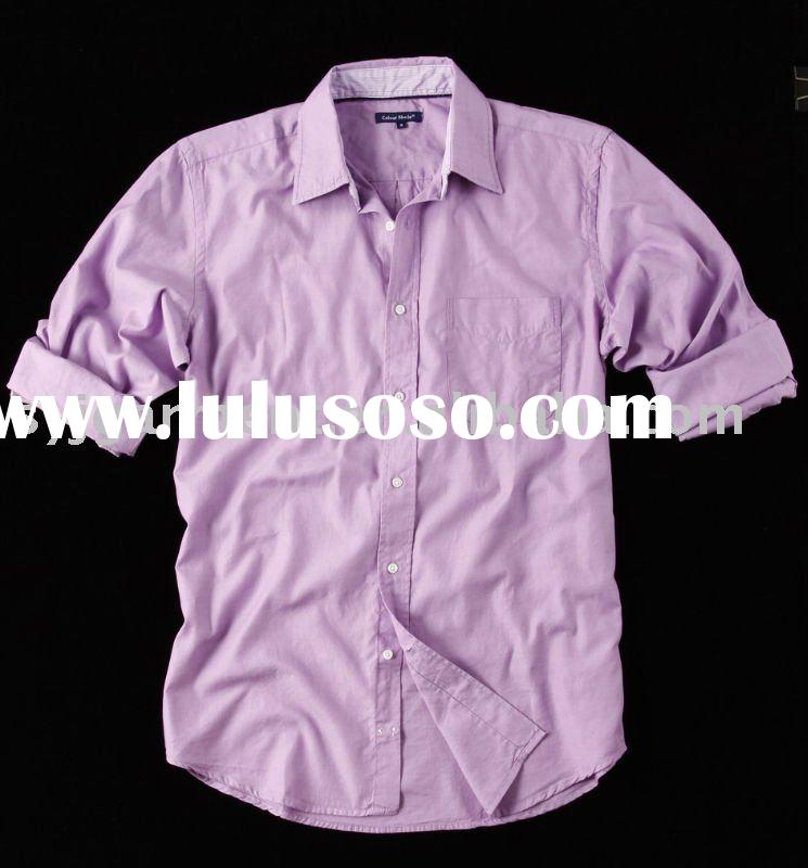 cotton shirt/men's shirt/oxford shirt/men's fashion shirt/garment wash shirt/fancy s