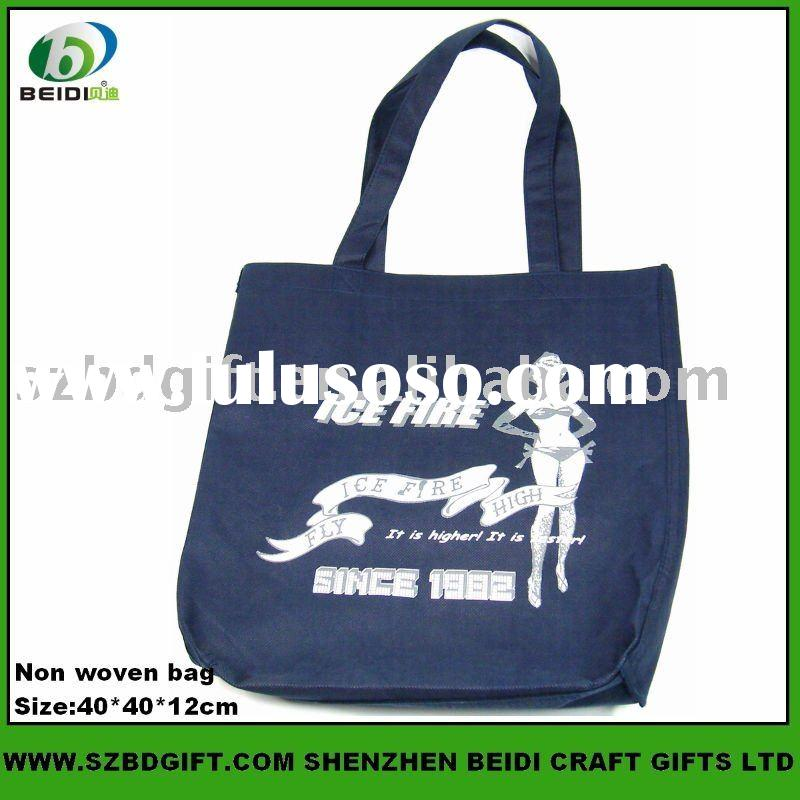 custom logo printed nonwoven promotion bag