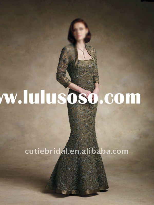 custom made mother of the bride lace dresses 8576