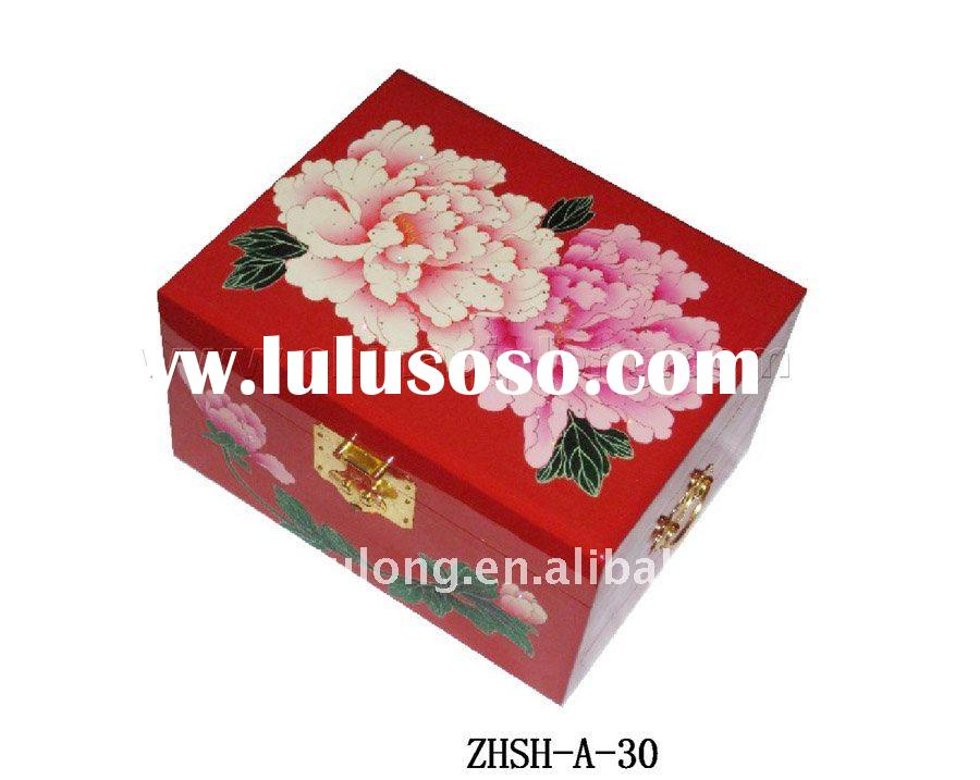 delicate small wooden jewelry box for gift
