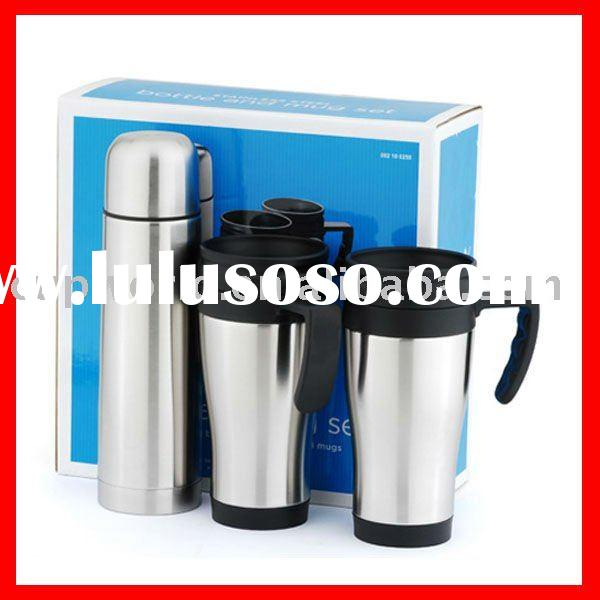 double wall stainless steel thermo bottle set