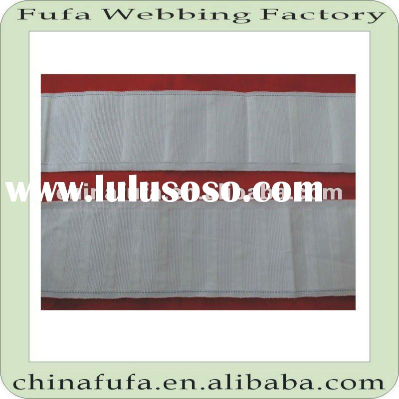 fabric knitted weave polyester/pp/nylon curtain tape band webbing with reasonable price