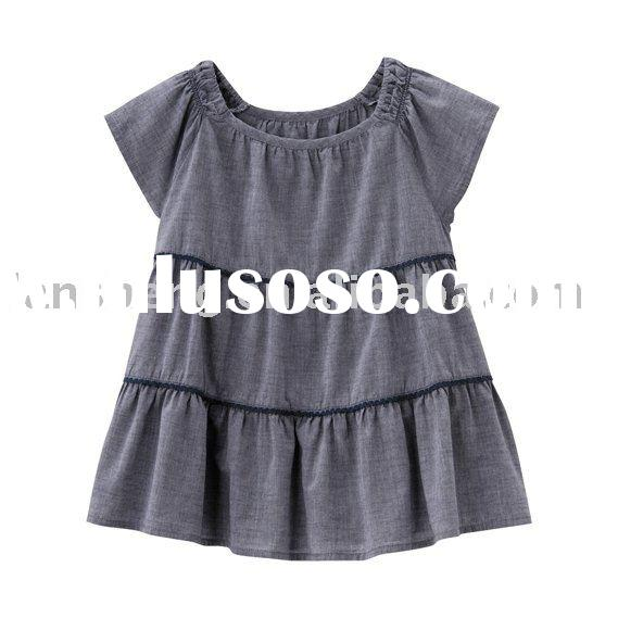 fashion design 100%cotton baby girls tops