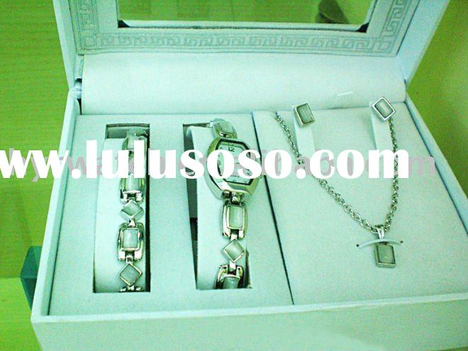 fashion jewelry bracelet gift watch set for lady with earring /necklace/