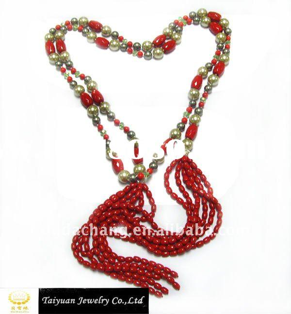 fashion shell beaded necklace