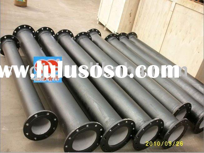 Double flange spool fitting for ductile cast iron pipe