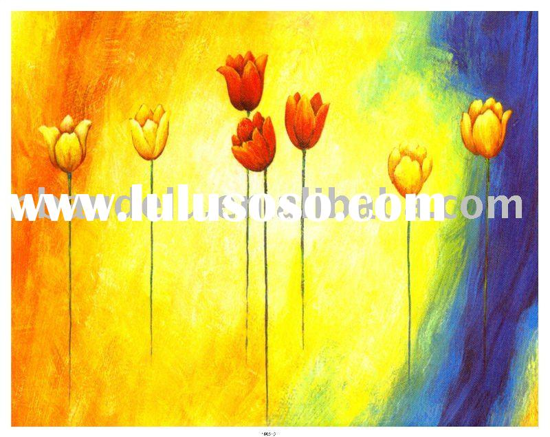 flower stretched canvas oil painting print