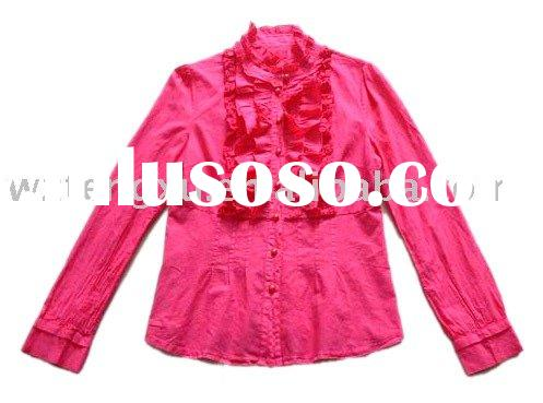 garment dyed cotton fashion ladies long shirts