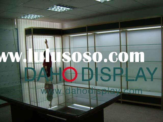 glass display shelves and counter for showroom and shop