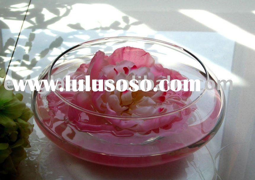 glassware clear glass floating candle bowl