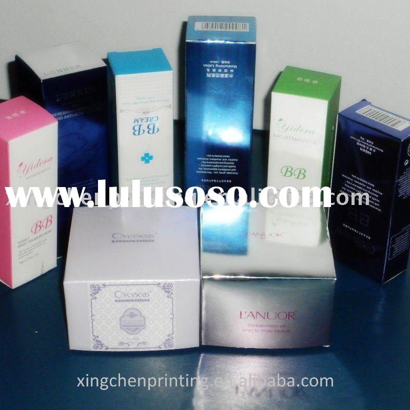 glossy cosmetic paper-packaging box printing