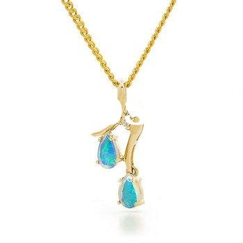gold plated jewelry, fashion opal necklace,golden jewelry
