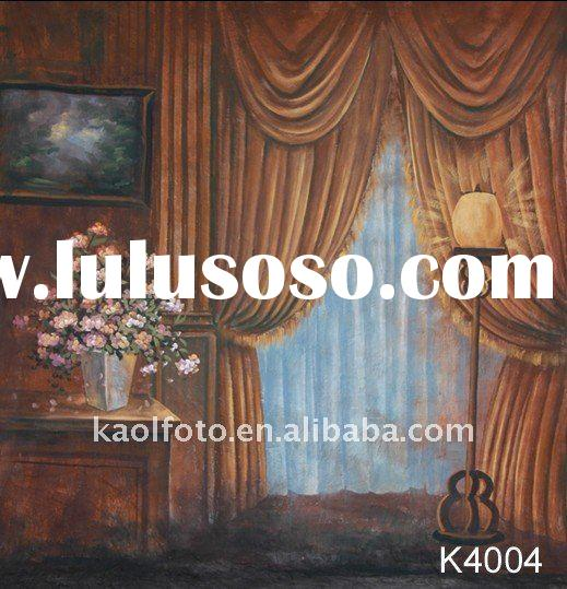 hand painted canvas background series K4004