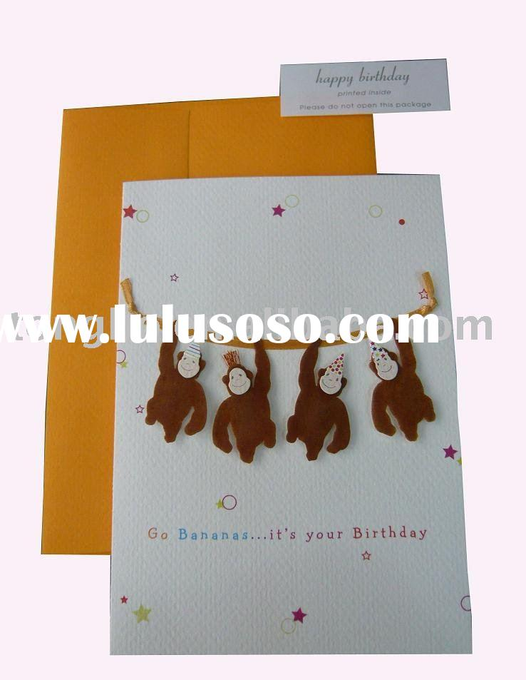 handmade CTB-038 paper birthday greeting card