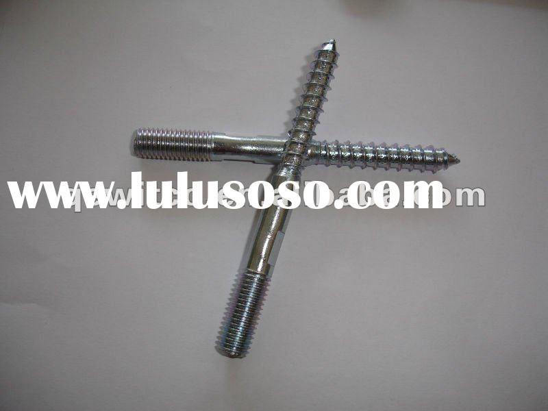 hanger bolt/Wood to Metal Dowel Screws with Cutted Wood Screw Thread,I-Star