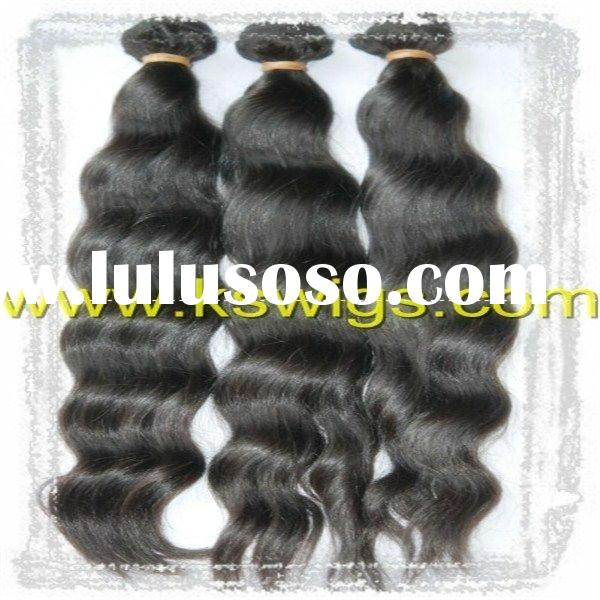 high quality hair weave natural wave 100g/pcs
