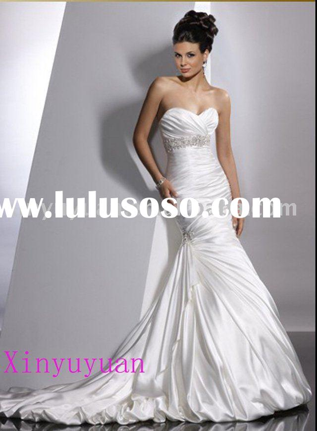 high quality wholesale retail custom made MOQ one piece drop shipping best price wedding dress eveni