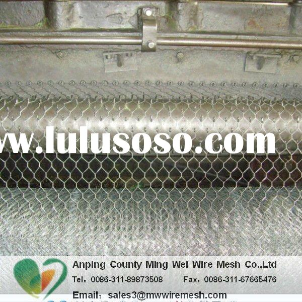 hot dipped, electro galvanized and pvc coated woven poultry hex wire mesh
