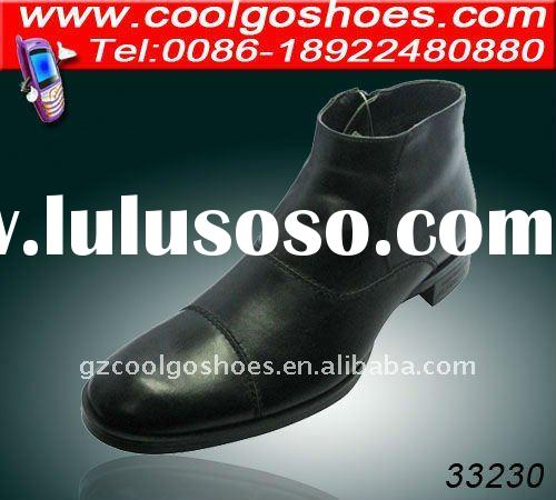 hot italian design men fashion leather boots with 2012 whole price in china