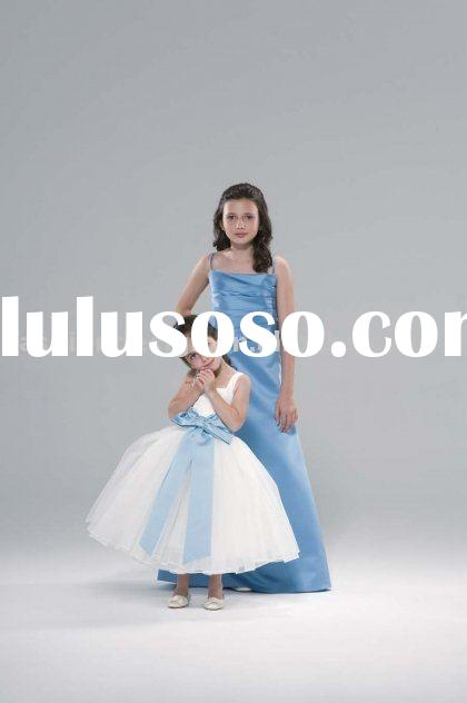 junior bridesmaid dresses,flowers girl dresses,formal prom gowns,evening dresses BD087
