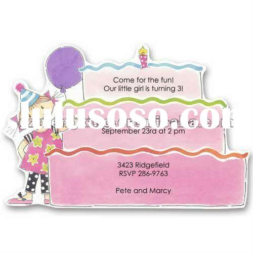 lovely greeting card /kids card/party invitation /birthday card-----B003