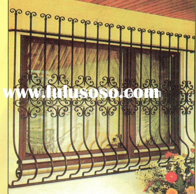 New design upvc design window grills for sale price for Window grills design in the philippines