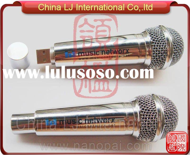 microphone usb stick, custom-made metal usb pen drive, microphone usb flash drive