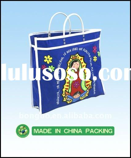 new design fashion recyclable printed nylon shopping bag