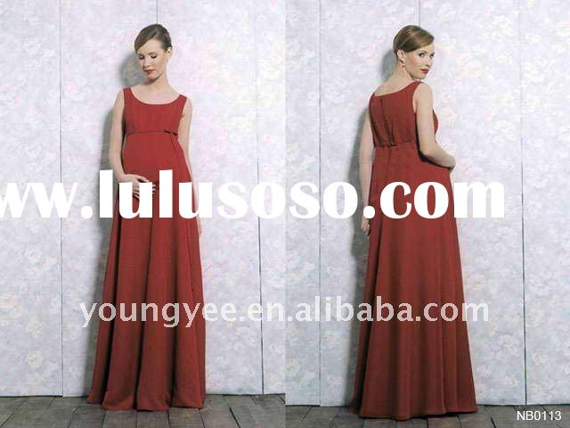 new design red chiffon halter evening dresses for pregnant women prom dress pregnant women dresses ,