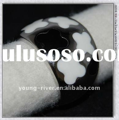 new design stainless steel epoxy rings jewelry