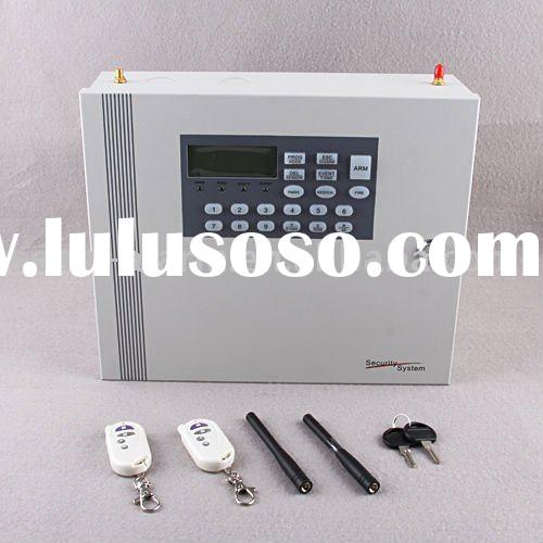 on sale LCD display metal case GSM/pstn alarm system gsm alarm system wireless security lcd gsm alar