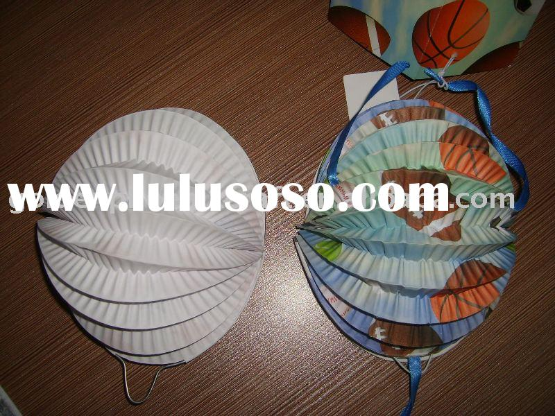 paper decoration lantern/party decoration/half circle lantern
