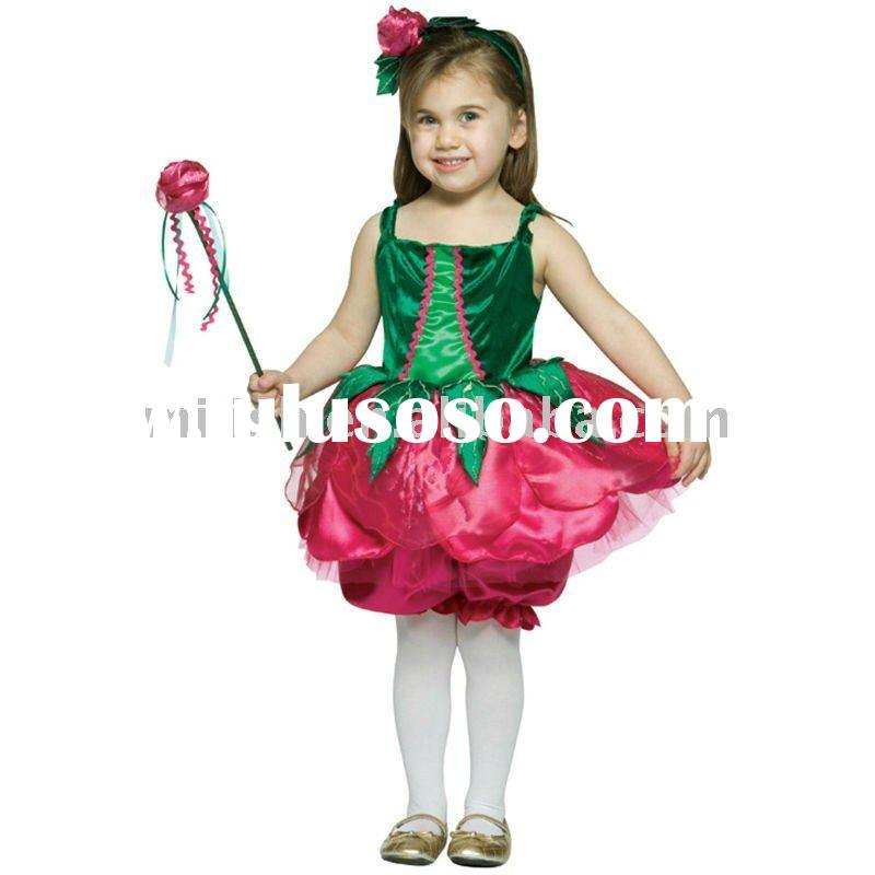 party children kids flower fairy fancy dress costumes MAC-0324