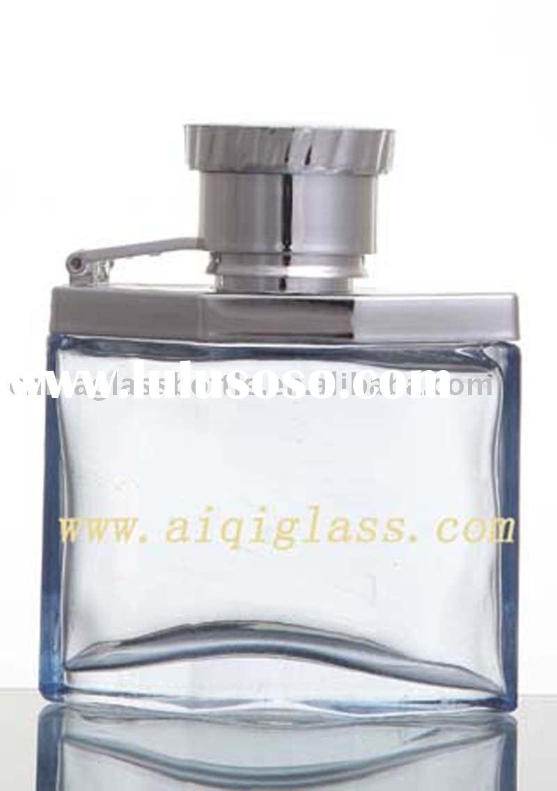 perfume bottle with uv cap and sprayer