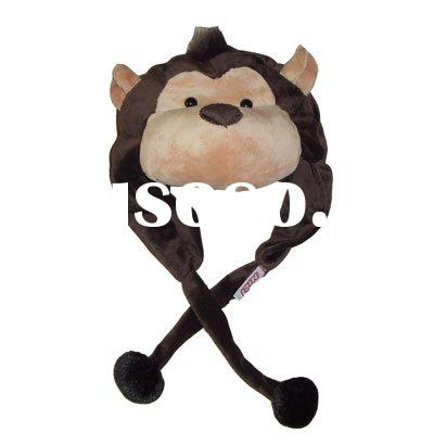 plush cartoon animal hats monkey shape hats