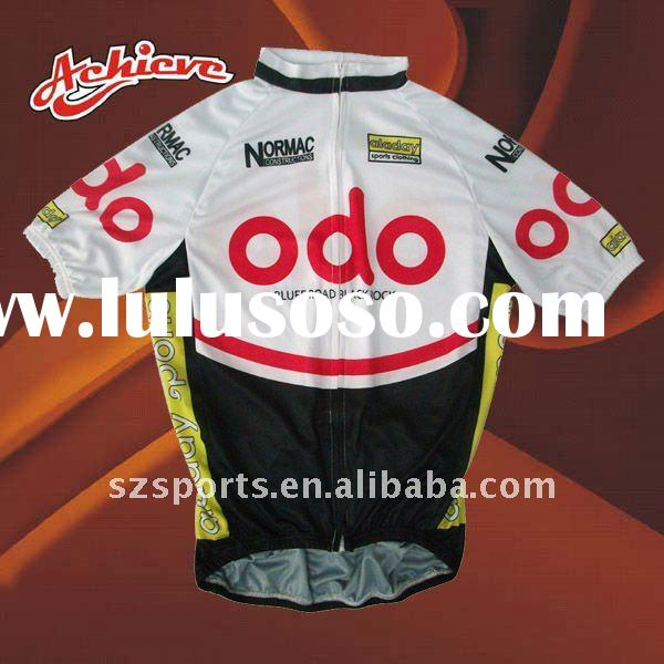 polyester cycling tops/shirts/jerseys for men