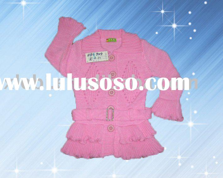 popular embroidery fashion child garment,kids clothing,children sweater for girl's coat