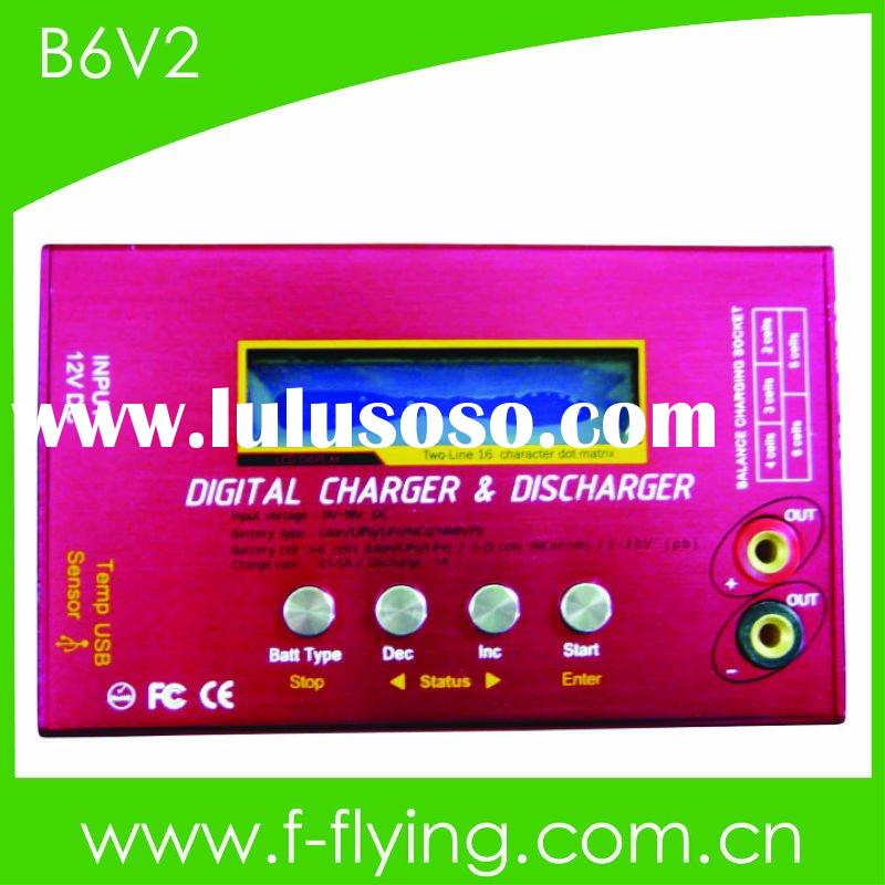 rc battery charger, digital charger for 1-6series Lipo/Life/Lion (Model: B6 V2)