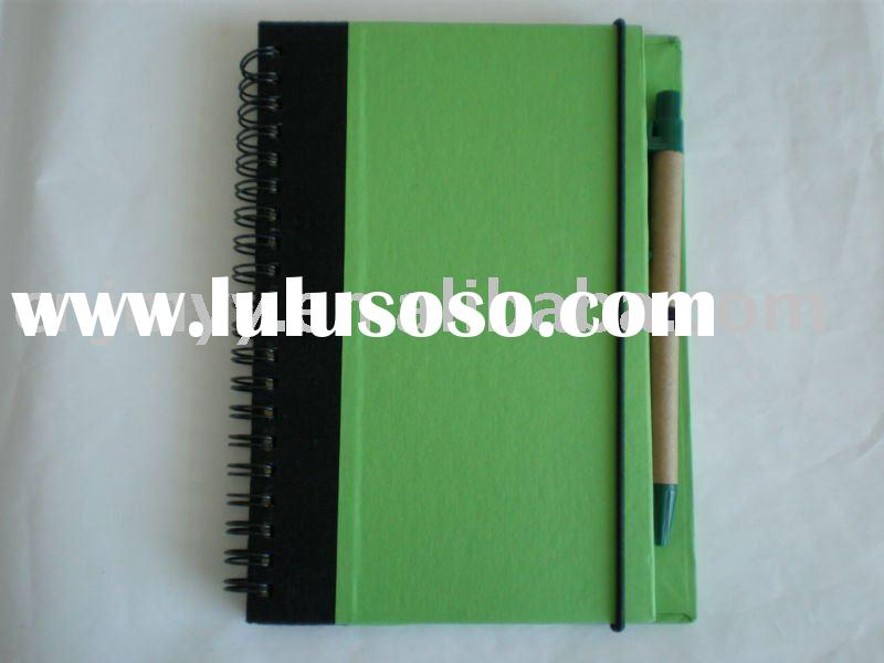 recycled paper notebook/kraft paper notebook/notebook with pen