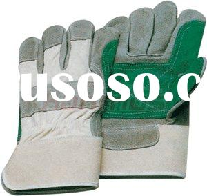 reinforced palm Leather industry gloves