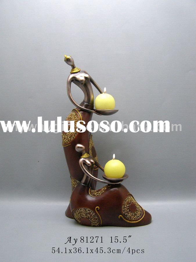 resinic crafts& figurine(African Lady candle holder) homeware ornaments craft