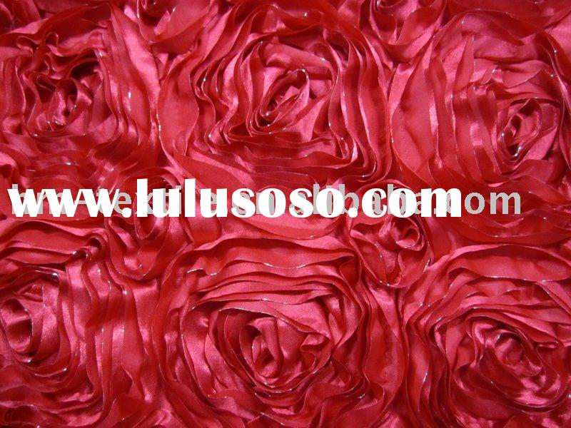 satin rosette decorative fabric for wedding/party