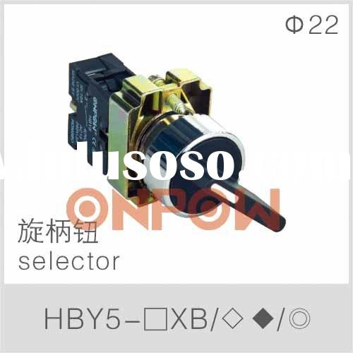 selector switch HBY5E,90 degree 3 position selector switch,2 position switch