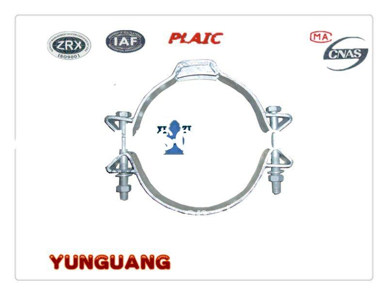 shackle straps pipe clamp electric pole fitting power utility pole abrazaderas fitting hot-dip galva