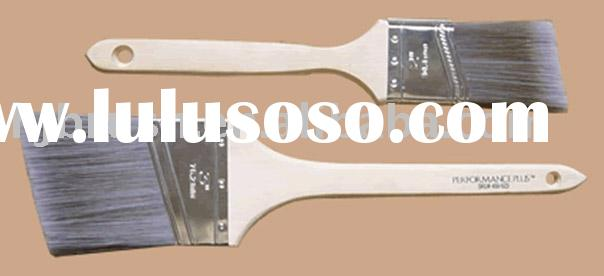 sharp taper filament and long wooden handle bent paint brush