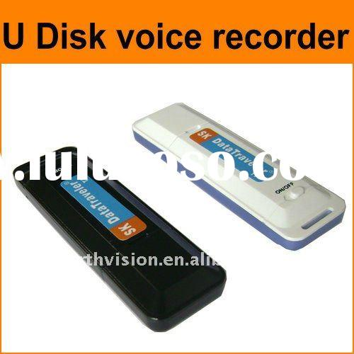 simple operation mini size digital audio recording devices with 2GB TF card