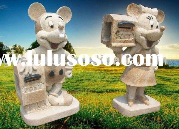 stone mickey mouse mail box in home and garden