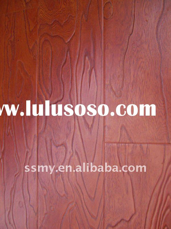 synchronized surface E0 HDF wexed laminate flooring best sell