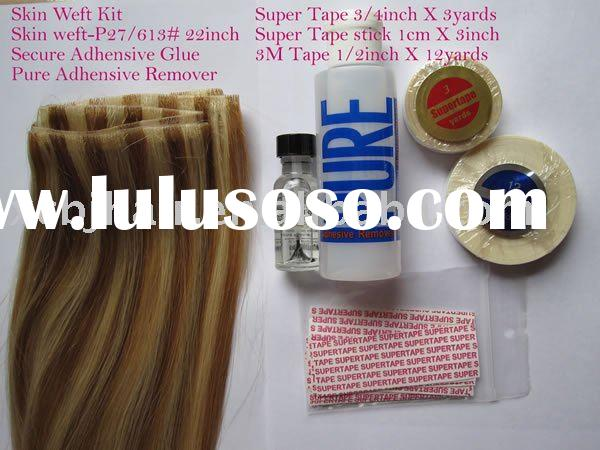tape on skin weft hair extensions full sets glue remover tape