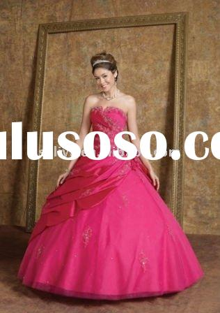 vintage pink strapless ball gown with small bolero jacket wlf684